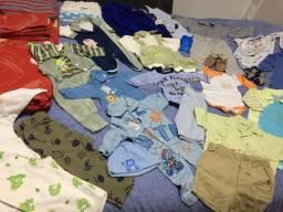 Enxoval bebê menino - 35 peças - com roupas p/m/g + brindes
