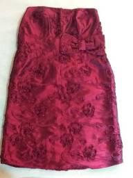 Vestido de festa tubinho marsala