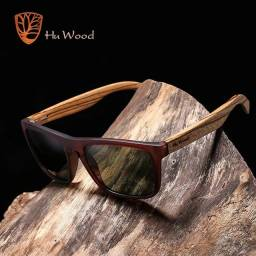 Óculos De Sol Hu Wood Polarizado Frete Grátis Curitiba