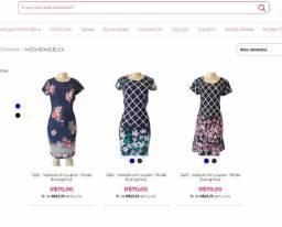 Lote, atacado de Vestido Evangélica com 4 peças - fechamento de Loja Online Migles.com.br