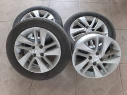 Rodas e pneus HB20