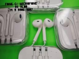 Fone de ouvido c/ microfone, celular, tablet, computador