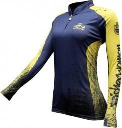 Camisa esportiva feminina com proteção solar