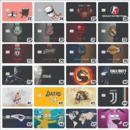 Adesivos Para Cartão De Crédito Kit 100 Unidade Frete Grátis