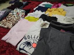 Lote roupas P e M adulto