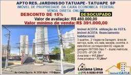 APTO TATUAPE SP (DESCONTO DE 15%) DESOCUPADO