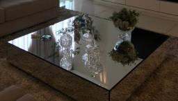 Mesa quadrada espelho Tok Stok