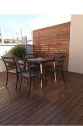 Vendo conjunto de mesas e cadeiras tramontina - semi novas