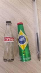 2 minigarrafas promocionais Coca-cola
