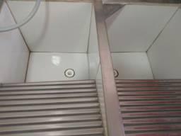 Tanque duas bocas em concreto /alumínio /azulejo