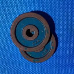 Kit 8 Anilhas de ferro de 2kg