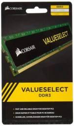 Memória RAM 4GB 1x4GB Corsair CMV4GX3M1A1600C11 Value Select