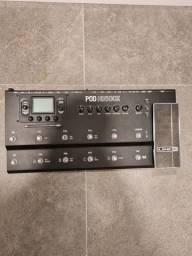 POD HD500X line 6 novíssima! Vem com fonte original e Hard Case