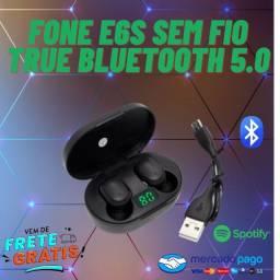 Fone E6s Sem Fio True Bluetooth 5.0 Estéreo(Resistente a Água)Entrega Grátis!!