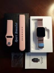 Smartwatch P70 muito bonito com pulseira extra.