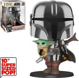 Funko Pop: Star Wars Mandalorian With The Child Super Sized 10? #380