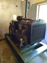 gerador 55/50 kva trifásico a diesel aberto.