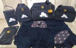 Bolsa de bebê com 5 peças mais saida maternidade luxo