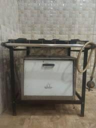 Fogão Industrial 4 bocas com forno METAMALQ