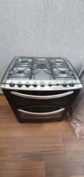 USADO - Fogão Eletrolux 76 DTB 5 queimadores e forno duplo
