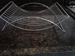 Linda fruteira de mesa de aço inox