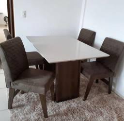 Sala de Jantar 4 Cadeiras Malu #Oferta