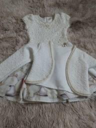 Vendo vestido guipir com casaquinho