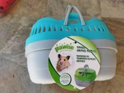 Caixa de transporte de hamster e pequenos roedores