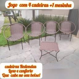 Cadeiras de junco reforçadas produto novo