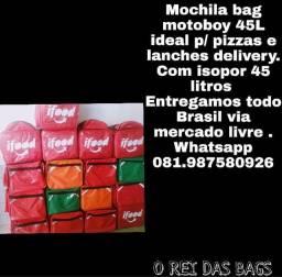 Delivery bag 45L motoboy entregamos todo Pernambuco
