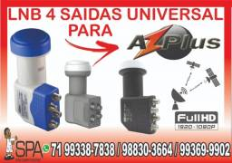 Lnb 4 Saidas Universal Banda Ku 4k Hd Lnbf Para AzPlus