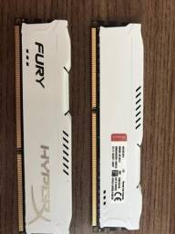 8 GBMemória Kingston HyperX 2x4GB = 8GB PC3-12800 DDR3-1600MHz RAM desktop branca BT04