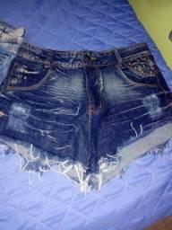 Short jeans os dois n 44 novo