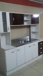 Cozinha compacta com cuba