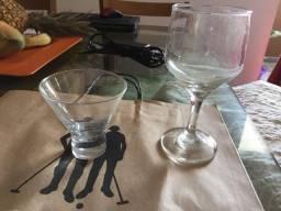 Copos de água/vinho, margerita e espumante