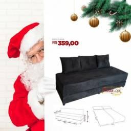 Sofá cama por apenas R$359 e entrega grátis