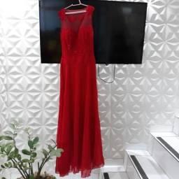 Vestido vermelho P - ACEITO CARTÕES