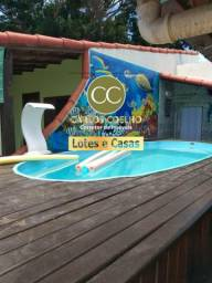 G Cód 370 Linda Casa 3qrts com Piscina e Área Gourmet em Unamar ( locação)