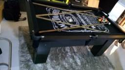 Mesa Charme e Jantar   Mesa Preta   Tecido Preto   Jack Daniels   Modelo: QNQG4726