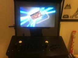 Máquina de fliperama 520 jogos com moedeiro