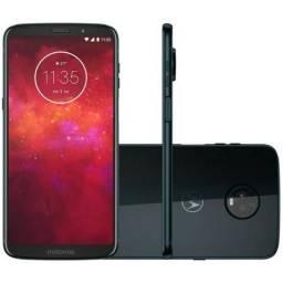 "Smartphone Motorola Moto Z3 Play XT1929-8 4GB+64GB Lte Dual Sim 6"" Câm.12MP+5MP-Azul"