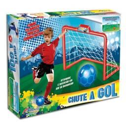 Kit Jogo de Futebol Chute ao Gol Brinquedo de Menino