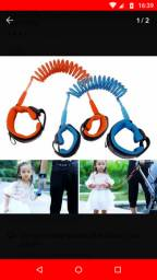 Pulseira de segurança infantil nova, cor laranja unissex