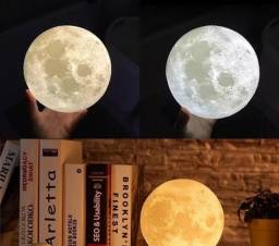 Luminária lua 3D de 15 centímetros pronta entrega
