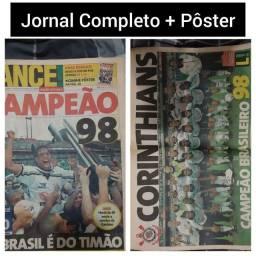 Corinthians. Bicampeão 1998. Lance nº 423 + Pôster