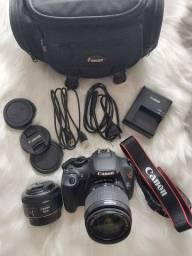 Câmera Fotográfica Canon T3 - Pouquíssimo usada!