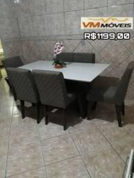 Mesa de jantar vigo 6 lugares