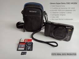 Kit Câmera digital Sony DSC-HX20V (zoom Óptico 20x) + Acessórios