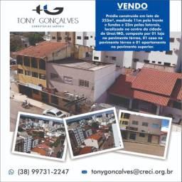 Prédio construído em lote de 253m² | Localização privilegiada | Centro | Unaí/MG