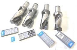 Broca Iscar tipo DR, c/refrigeração central, c/ 9  Pastilhas SOMT 160512